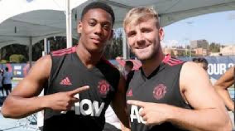 Who will replace Anthony Martial and Luke Shaw in the Manchester United line-up against Southampton?