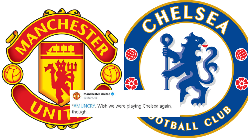 Manchester United takes brutal dig at Chelsea on Twitter