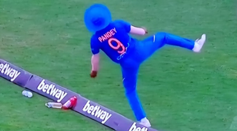 Manish Pandey catch vs West Indies: Watch Pandey grabs outstanding boundary catch to dismiss Nicholas Pooran
