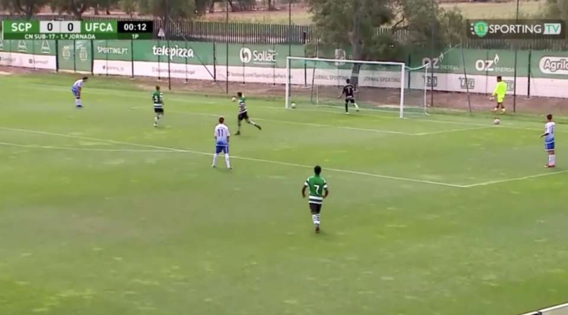 Watch: Sporting U17 score a goal in 13 seconds without touching the ball once!