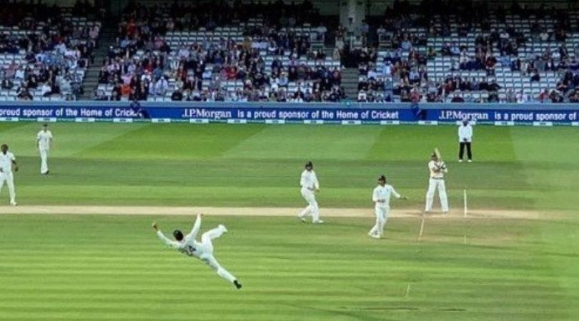 Joe Denly catch vs Australia: Watch English fielder's grabs one-handed stunner to dismiss Tim Paine at Lord's