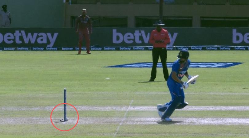 WATCH: Virat Kohli gets massive reprieve as bails don't fall despite ball hitting stumps off Oshane Thomas