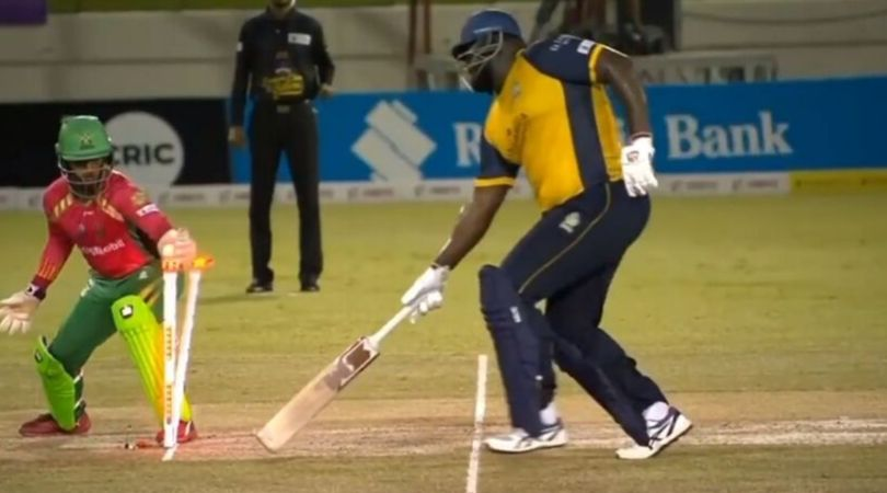Rahkeem Cornwall run-out vs Amazon Warriors: Watch Zouks' all-rounder gets run-out despite reaching the crease