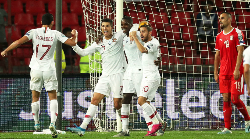 Cristiano Ronaldo spurred by Messi chants leads Portugal to victory vs Serbia