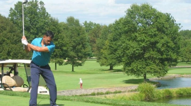 MS Dhoni plays maiden golf tournament in America; secures second position