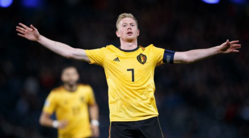 Kevin De Bruyne stars with a hat-trick of assists in Belgium vs Scotland match