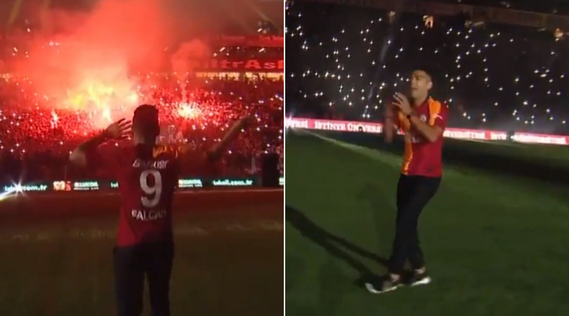 More than 40,000 Galatasaray fans turn up for unveiling of Radamel Falcao