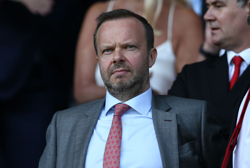 Ed Woodward appears to ask Phil Jones to shut up during West Ham's 2-0 drubbing of Manchester United