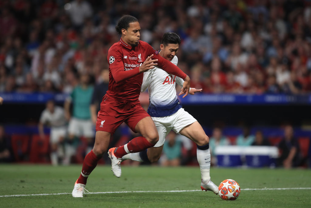 Virgil Van Dijk recorded the fastest sprint in the UCL 2018/19