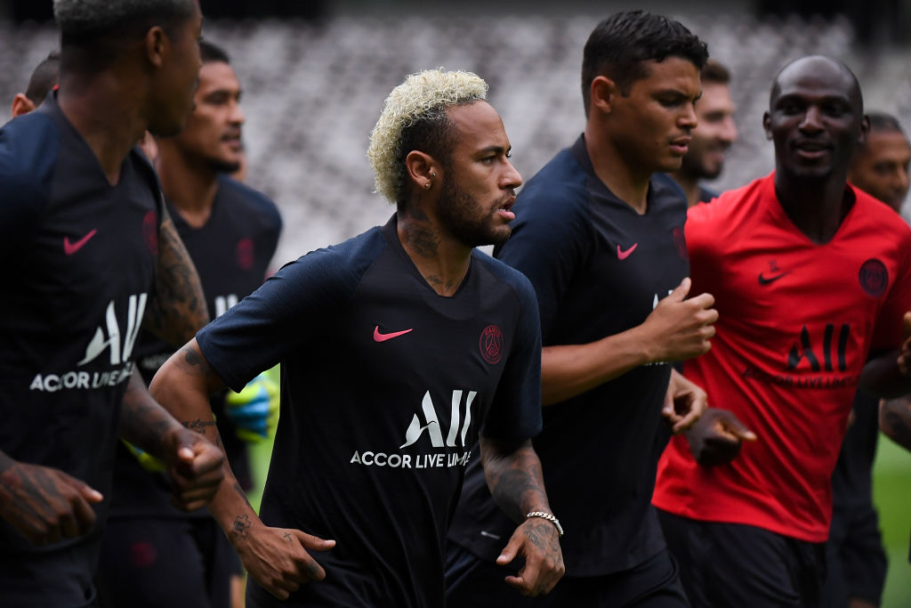 Neymar's teammates at PSG teased him after he informs about his decision to stay