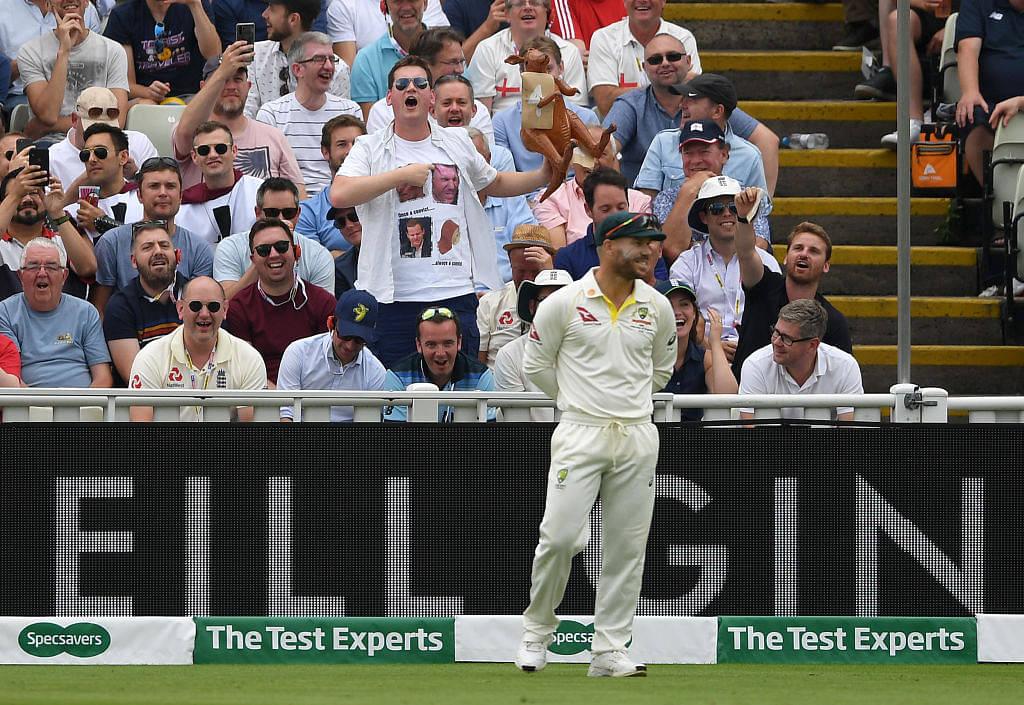 Watch: David Warner's epic reaction after England fan calls him 'fu***ng cheat'