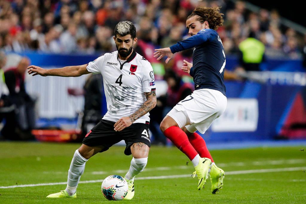 Antoine Griezmann pulls off a stunning no-look nutmeg vs Albania