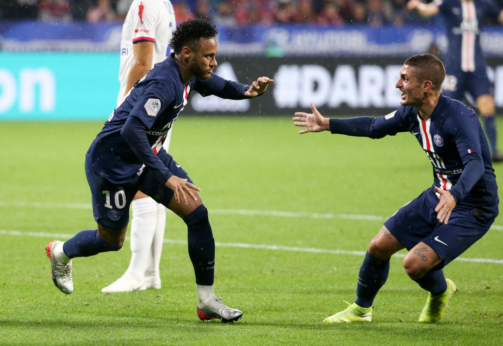 Neymar scores an 87th minute stunner to silence fans after having plastic cups thrown at him in the PSG vs Lyon match