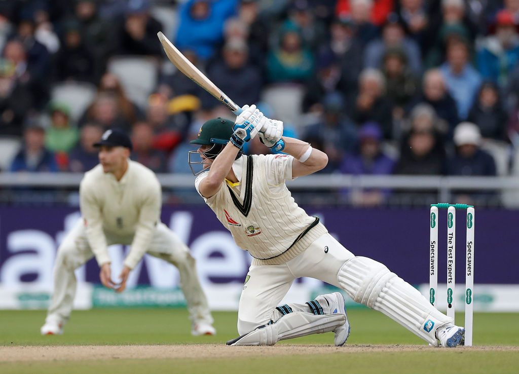 Watch: Steve Smith slashes at a ball and falls to bring his 8th consecutive 50 in the Ashes