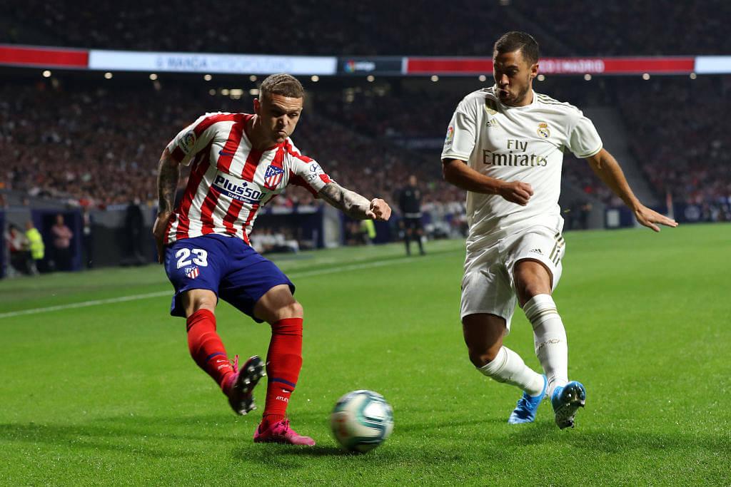 Kieran Trippier outperforms Eden Hazard in the first Madrid derby of season