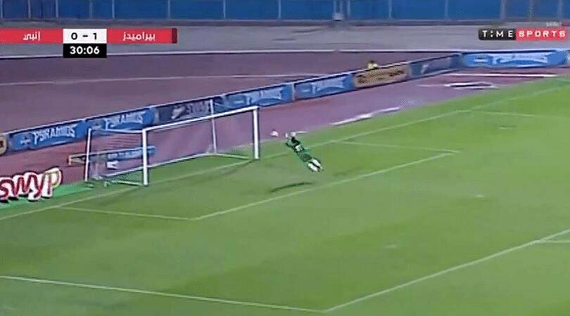 Egyptian Goalkeeper's stunning save while running backwards goes viral