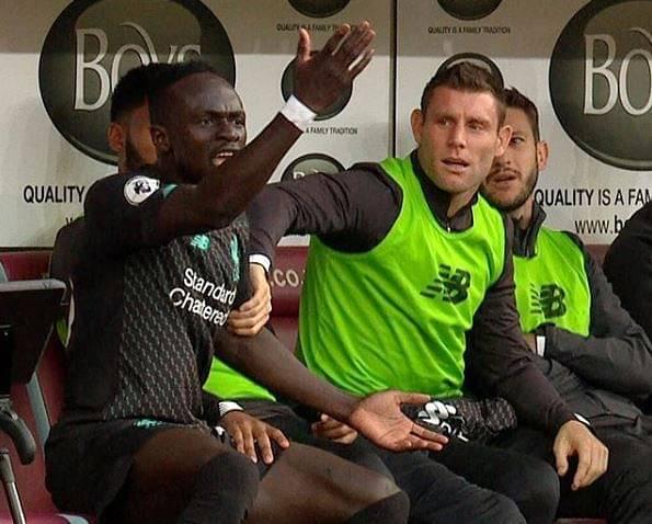 Sadio Mane replies to James Milner's hilarious post on forward's rift between Salah against Burnley