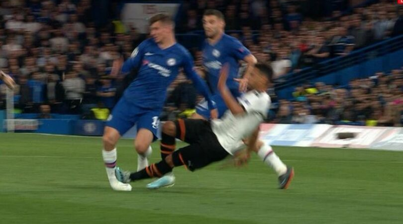Mason Mount injured after receiving a horror tackle on his UEFA Champions League debut for Chelsea