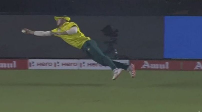 David Miller catch vs India: Watch South African batsman grabs one-handed stunner to dismiss Shikhar Dhawan