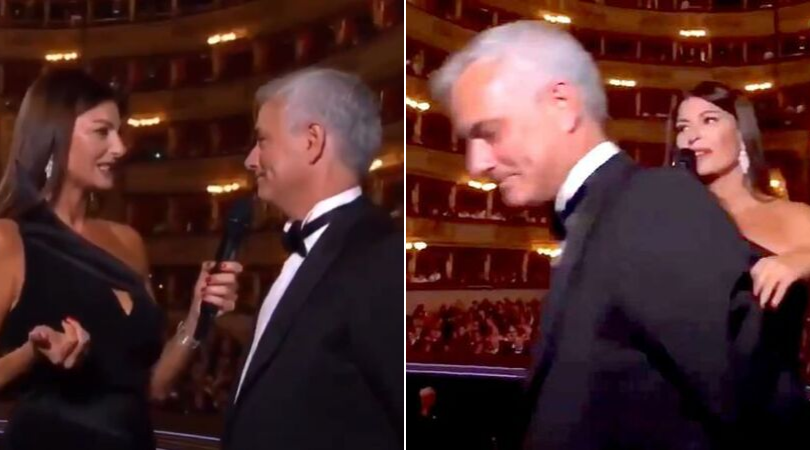 Jose Mourinho walks away after bizarre query from interviewer at FIFA The Best Awards