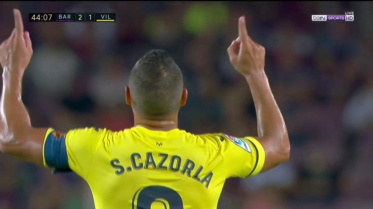 Santi Cazorla's incredible 35-yard stunner against Barcelona is a sight to behold