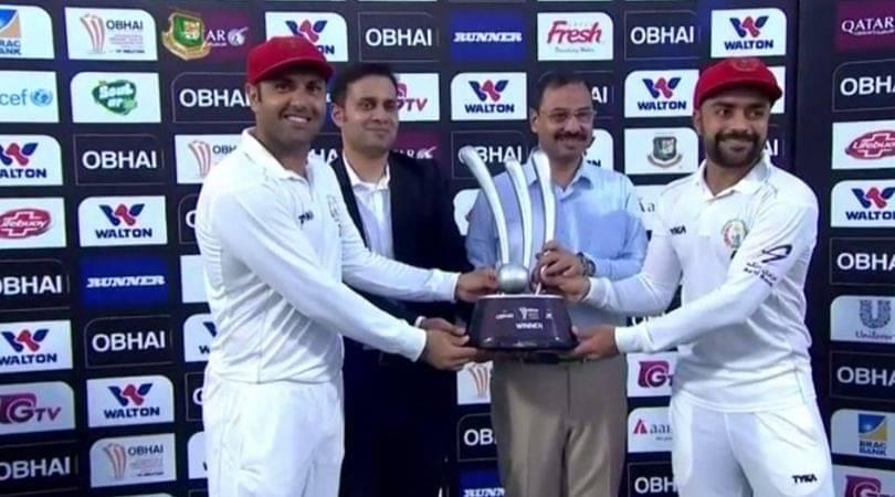 WATCH: Rashid Khan dedicates Man of the Match Award to Mohammed Nabi on his Test retirement