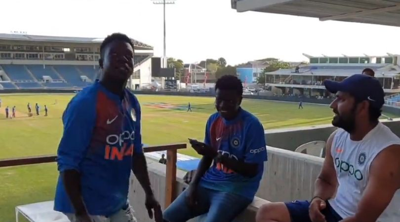 WATCH: Rohit Sharma hilariously interacts with West Indian fans after India's victory in Jamaica Test