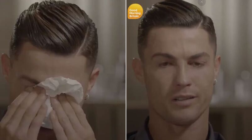 Cristiano Ronaldo breaks down in tears after watching unseen footage of his late father