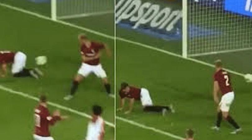 Watch: Sparta Prague's Michal Sacek conceded a hilarious own goal with his backside vs Slavia Prague