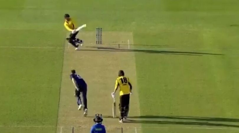 WATCH: Marcus Stoinis sweeps Scott Boland for incredible six in Marsh Cup