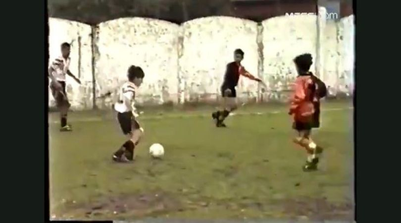 Young Lionel Messi tearing opposition players shown in footage surfaced online