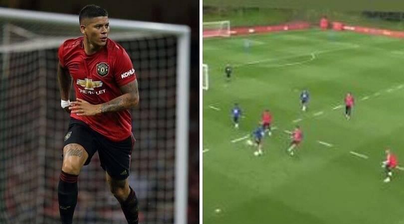 Marcos Rojo Rabona Kick: Manchester United star seen kicking rabona in training