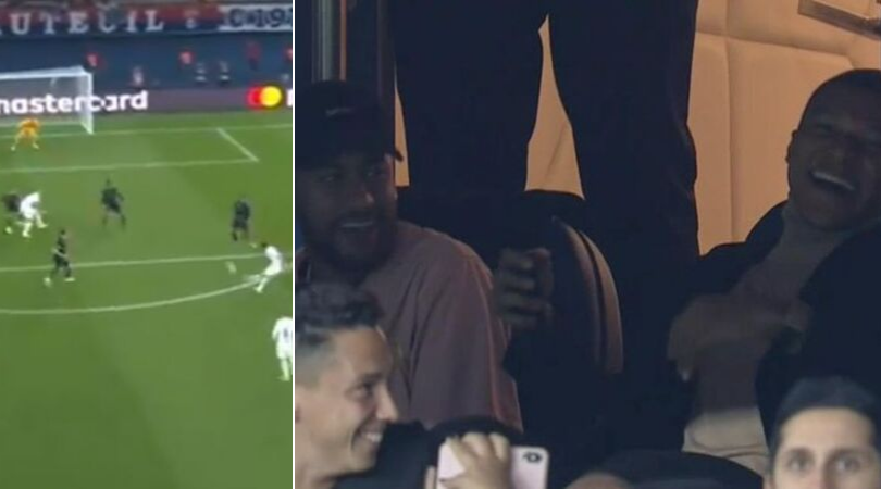 PSG vs Real Madrid: Neymar and Mbappe have laughter riot after Di Maria's second goal against RM