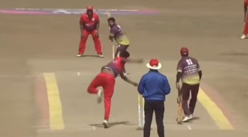 WATCH: Wide delivery reaches point boundary in local Tennis cricket tournament