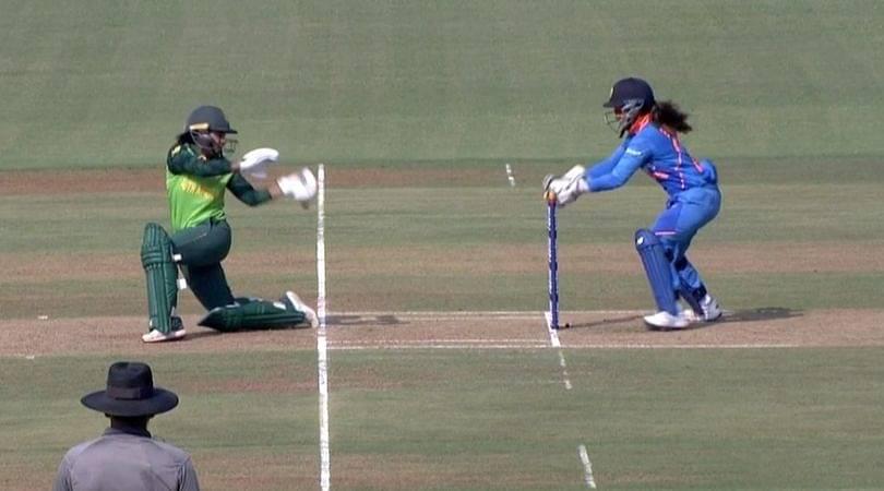 WATCH: Taniya Bhatia affects MS Dhoni-like stumping to dismiss Trisha Chetty vs South Africa Women