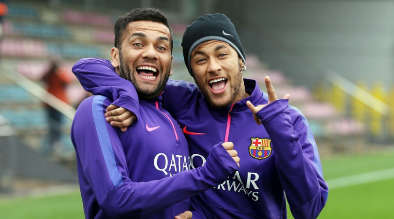 Dani Alves hits out at Neymar; says he has the sensibility of a child