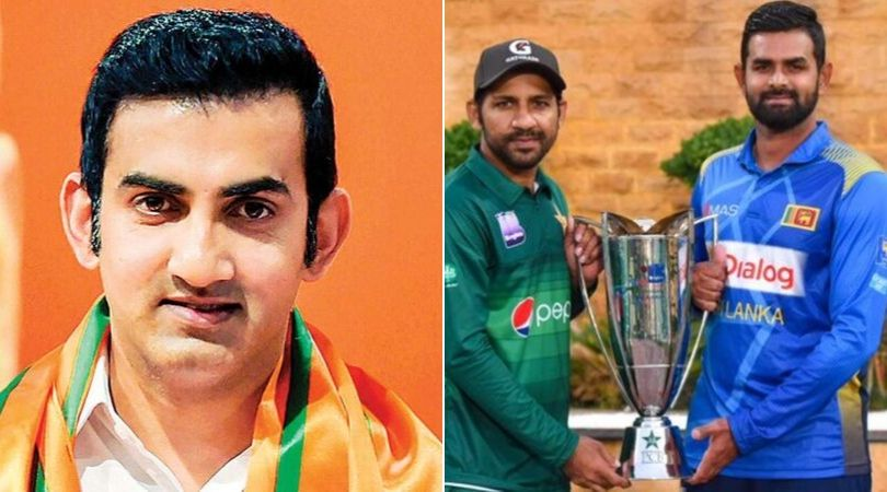 WATCH: Gautam Gambhir taunts Pakistan for tight security arrangement during PAK vs SL match