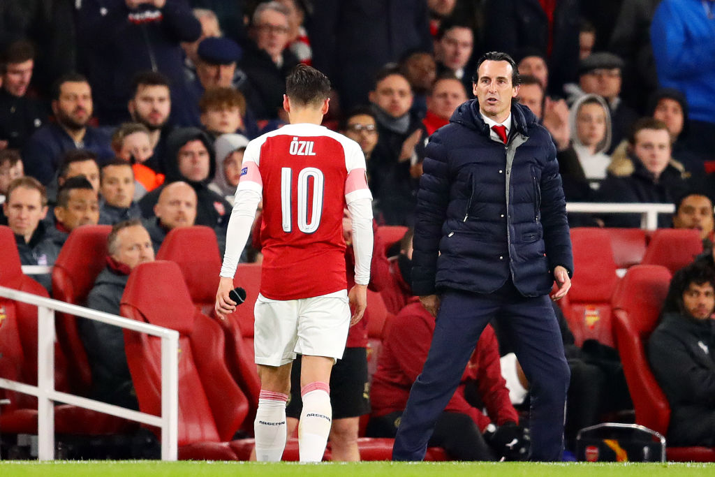 Arsenal news: Unai Emery discloses why Mesut Ozil doesn't deserve starting spot