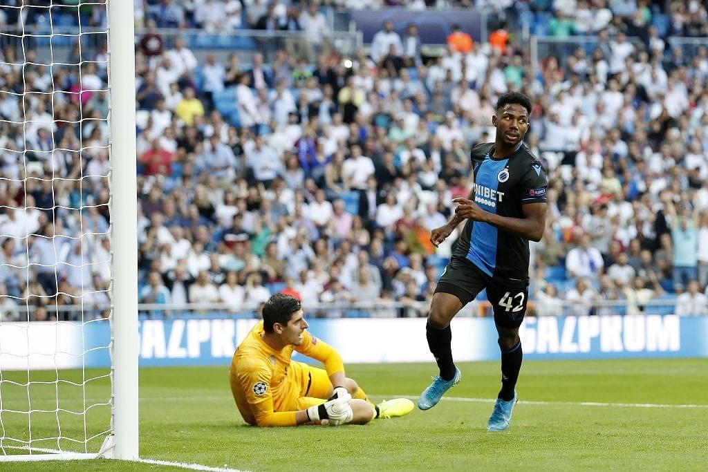 Emmanuel Dennis goal Vs Real Madrid: Watch Thibaut Courtois make a blunder against Brugge