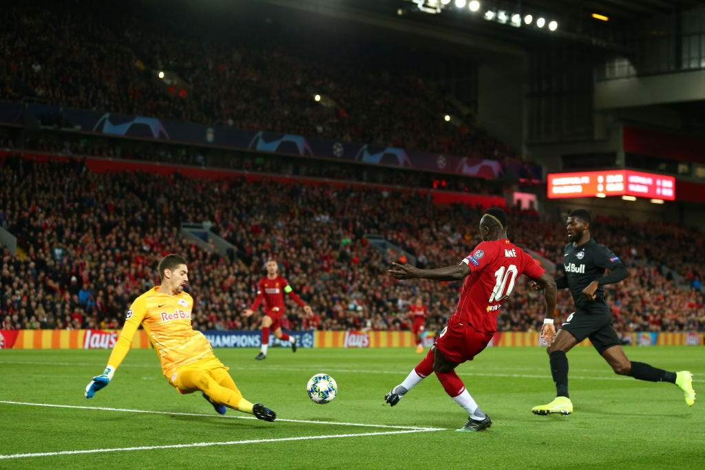 Sadio Mane goal Vs Salzburg: Watch Sadio Mane score against his former club to give Liverpool lead
