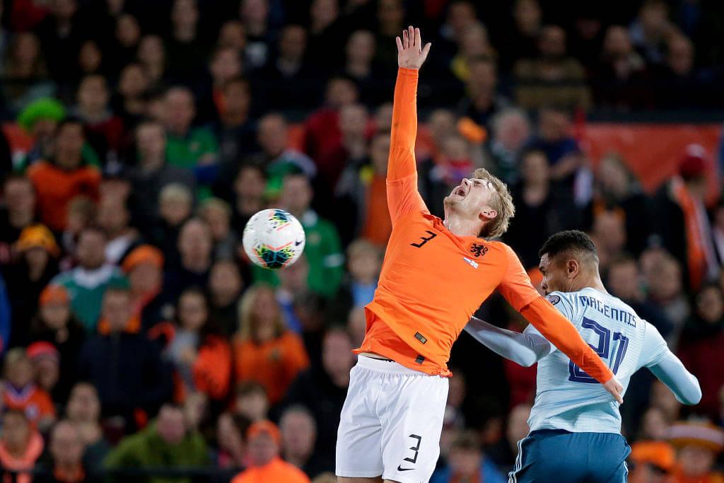 Matthijs De Ligt made two blunders in 10 seconds for Netherlands vs Northern Ireland