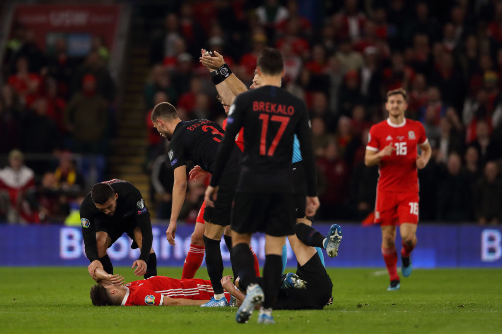 """Daniel James was acting """"Claims Ryan Giggs off the winger's accident in the Wales vs Croatia match"""