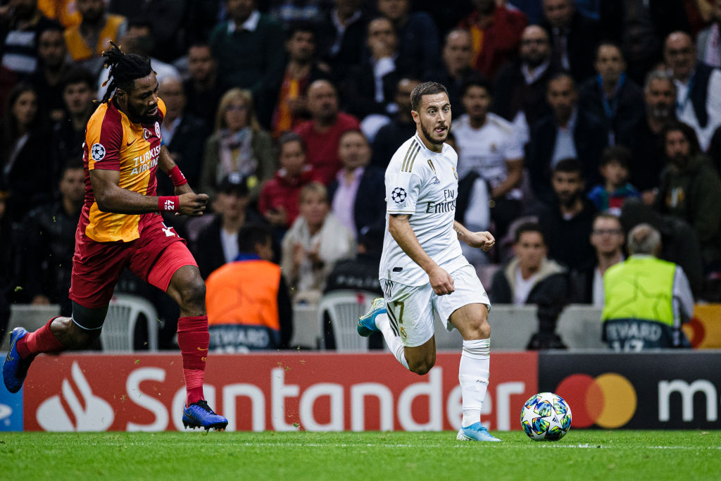 Eden Hazard embarrassingly manages to miss an open goal for Real Madrid vs Galatasaray