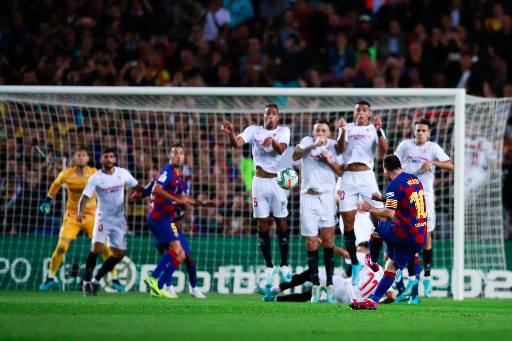 Lionel Messi Freekick: Barcelona Skipper scores an extraordinary free-kick during 4-0 Sevilla rout