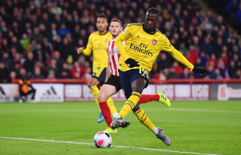 Nicolas Pepe misses absolute stunner against Sheffield United in Premier League match