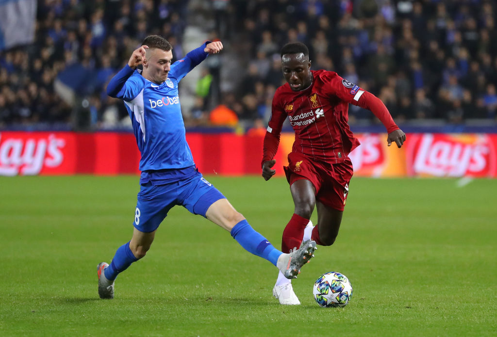 Watch: Naby Keita passes the ball with his back within just 8 seconds in the Genk vs Liverpool match