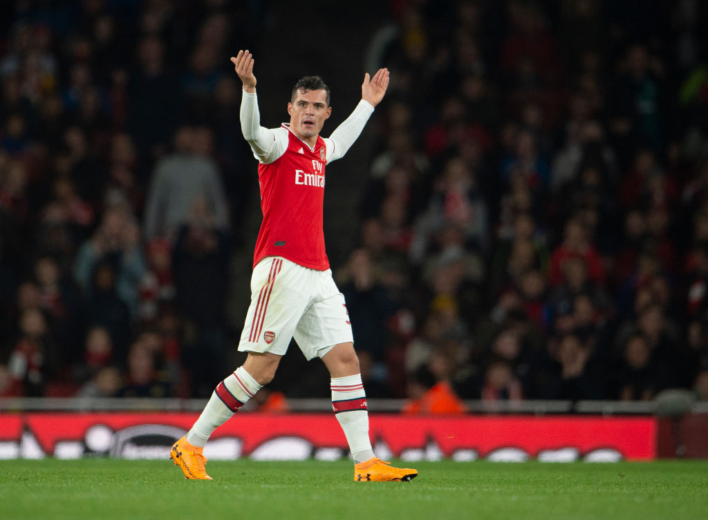 Unai Emery discloses conversation with Granit Xhaka after his angry reaction towards Arsenal fans