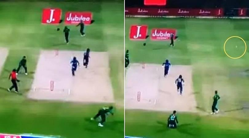 WATCH: Mohammad Hasnain's wayward throw gives an extra run to Danushka Gunathilaka