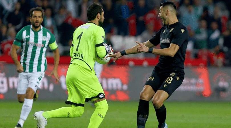 Konyaspor Goalkeeper Serkan Kirintili receives fastest ever red card in Turkish football history after just 13 seconds!