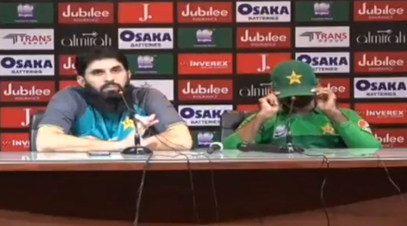 WATCH: Sarfaraz Ahmed and Misbah-ul-Haq express disappointment at reporter demanding Fakhar Zaman's exclusion
